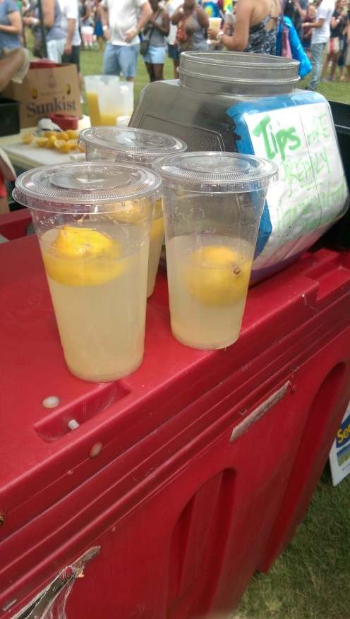 Fresh Lemonade in process