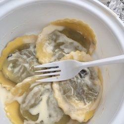 A sample of their mushroom ravioli.